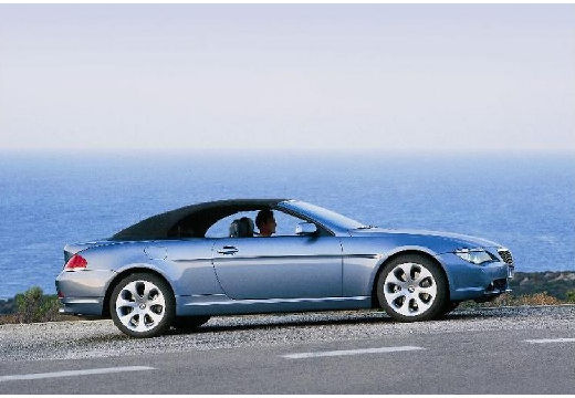 BMW Seria 6 Cabriolet E64 I kabriolet niebieski jasny przedni prawy