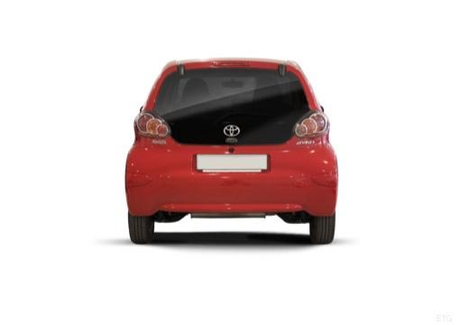 Toyota Aygo III hatchback czerwony jasny tylny