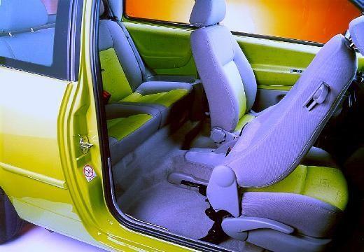 VOLKSWAGEN Lupo hatchback żółty wnętrze