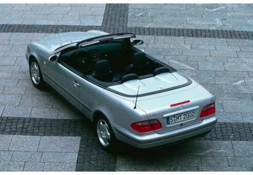 MERCEDES-BENZ Klasa CLK kabriolet silver grey tylny lewy