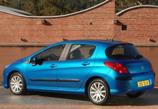 PEUGEOT 308 I hatchback niebieski jasny tylny lewy
