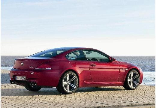 BMW Seria 6 E63 I coupe bordeaux (czerwony ciemny) tylny prawy