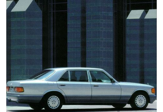 MERCEDES-BENZ 126 sedan silver grey tylny prawy