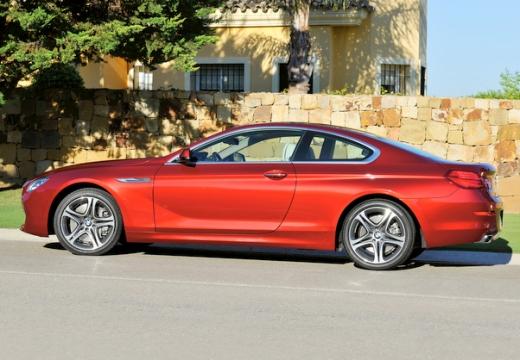 BMW Seria 6 F13 I coupe czerwony jasny boczny lewy