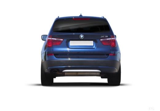 BMW X3 X 3 F25 I kombi niebieski jasny tylny