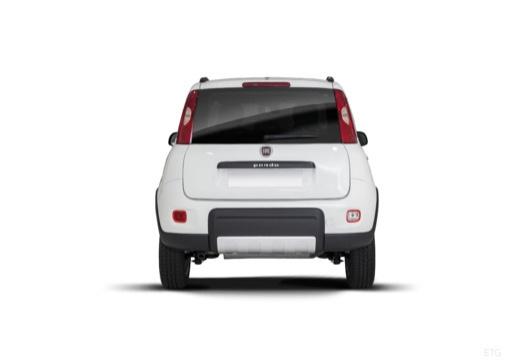 FIAT Panda III hatchback biały tylny