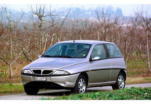 LANCIA Y hatchback silver grey przedni lewy