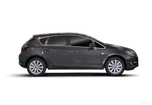 OPEL Astra IV II hatchback czarny boczny prawy