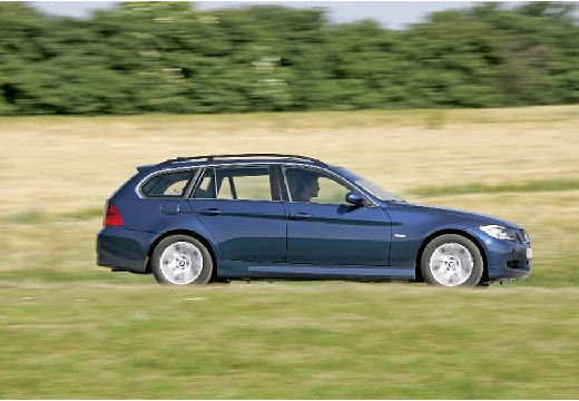 BMW Seria 3 Touring E91 I kombi niebieski jasny boczny prawy