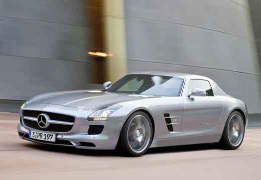 MERCEDES-BENZ SLS coupe silver grey przedni lewy