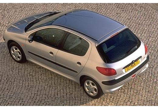 PEUGEOT 206 II hatchback silver grey górny tylny