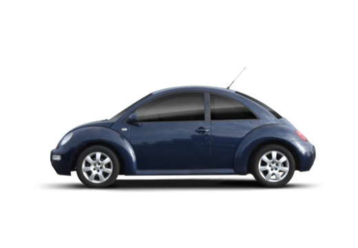 VOLKSWAGEN New Beetle I coupe niebieski jasny boczny lewy