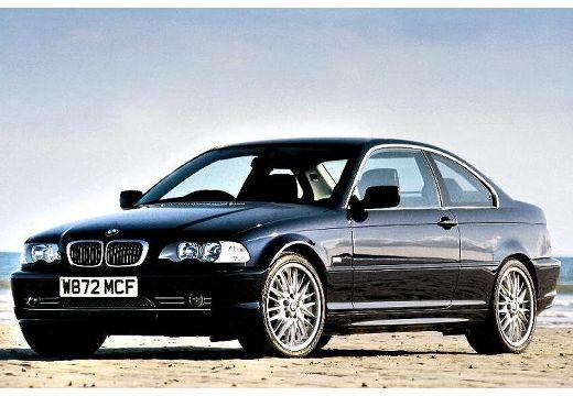 BMW Seria 3 coupe czarny przedni lewy