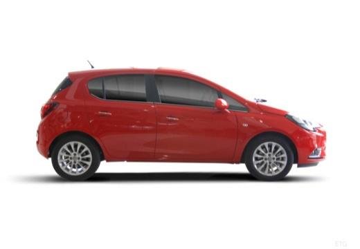 OPEL Corsa hatchback czerwony jasny boczny prawy
