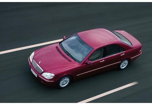 MERCEDES-BENZ Klasa S W 220 I sedan bordeaux (czerwony ciemny) przedni lewy