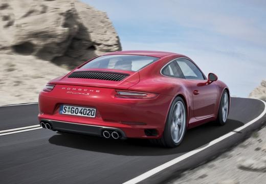 PORSCHE 911 991 II coupe czerwony jasny tylny prawy