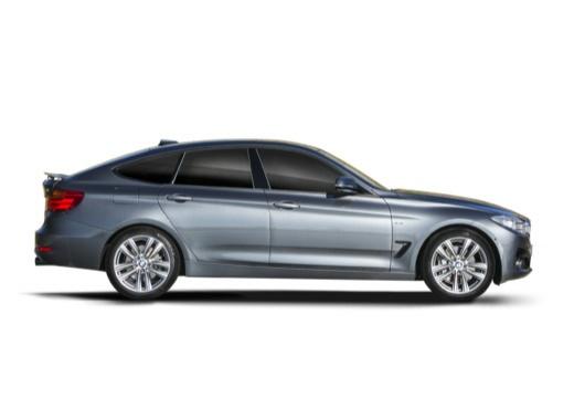 BMW Seria 3 Gran Turismo hatchback szary ciemny boczny prawy