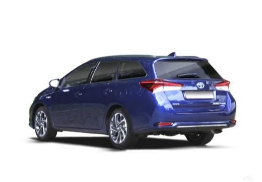 Toyota Auris kombi niebieski jasny tylny lewy