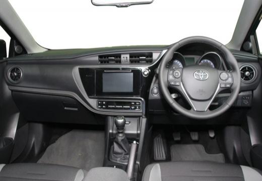 Toyota Auris II hatchback niebieski jasny tablica rozdzielcza