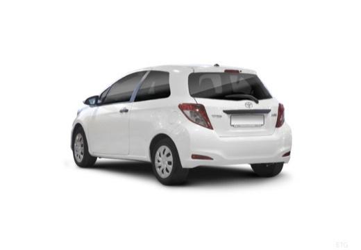 Toyota Yaris hatchback biały tylny lewy