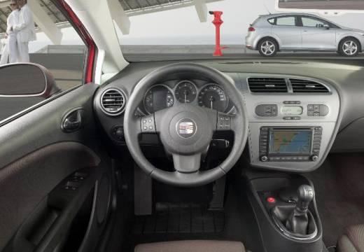 SEAT Leon II hatchback silver grey tablica rozdzielcza