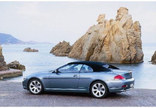 BMW Seria 6 Cabriolet E64 I kabriolet niebieski jasny tylny lewy
