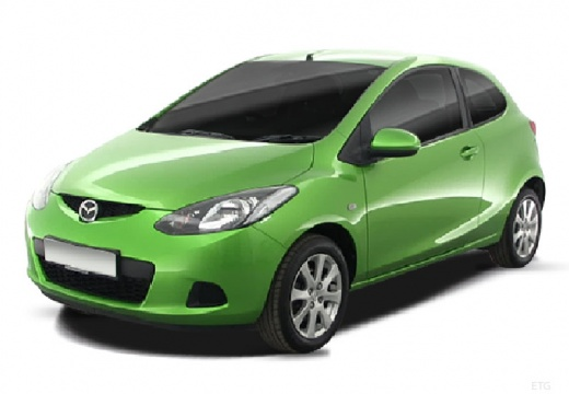 MAZDA 2 hatchback zielony