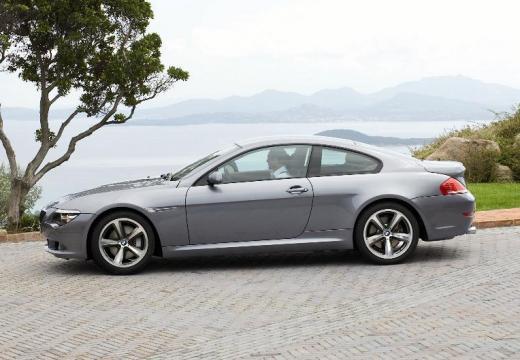 BMW Seria 6 E63 II coupe silver grey boczny lewy