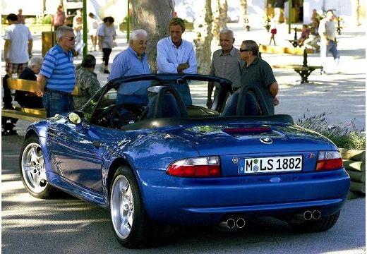 BMW Z3 roadster niebieski jasny tylny lewy