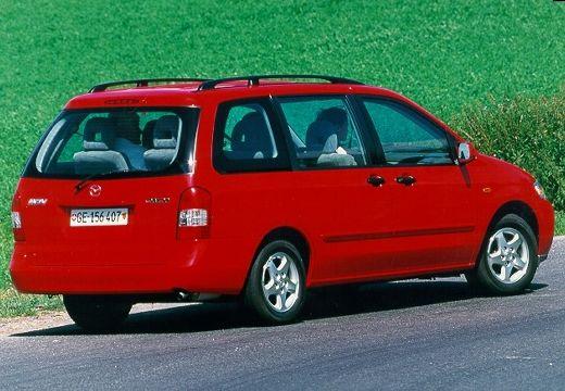 MAZDA MPV II van czerwony jasny tylny prawy