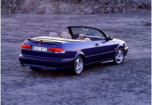 SAAB 9-3 Cabriolet I kabriolet niebieski jasny tylny prawy