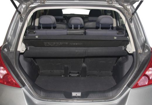 NISSAN Tiida hatchback przestrzeń załadunkowa