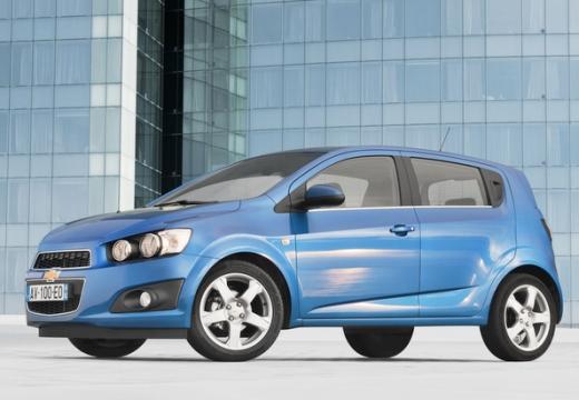 CHEVROLET Aveo III hatchback niebieski jasny przedni lewy