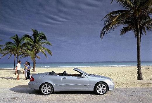 MERCEDES-BENZ Klasa CLK CLK Cabriolet A 209 I kabriolet silver grey boczny prawy