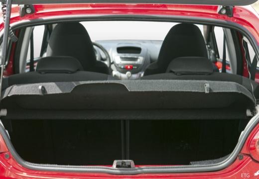 Toyota Aygo I hatchback przestrzeń załadunkowa