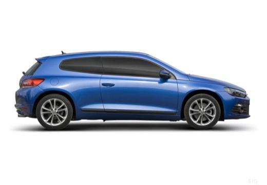 VOLKSWAGEN Scirocco III I coupe niebieski jasny boczny prawy