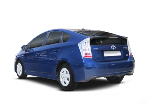 Toyota Prius II hatchback niebieski jasny tylny lewy