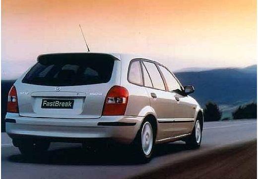 MAZDA 323 hatchback silver grey tylny prawy