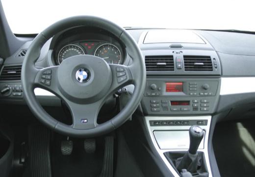 BMW X3 X 3 E83 II kombi silver grey tablica rozdzielcza