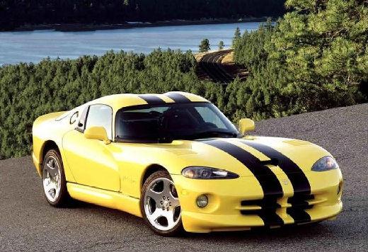 DODGE Viper coupe żółty przedni prawy