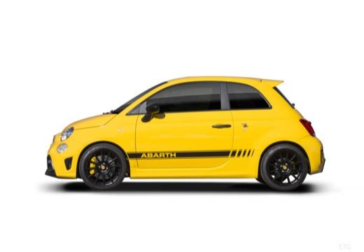 ABARTH 500 hatchback żółty boczny lewy