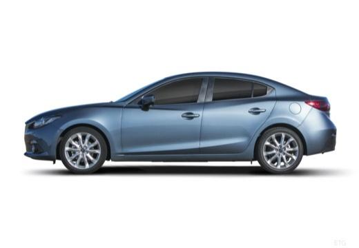 MAZDA 3 sedan niebieski jasny boczny lewy