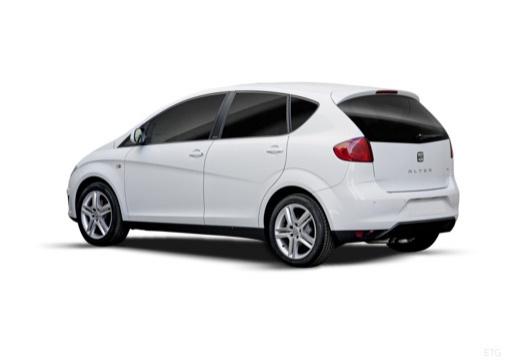 SEAT Altea II hatchback biały tylny lewy