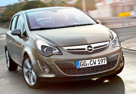 OPEL Corsa hatchback silver grey przedni prawy