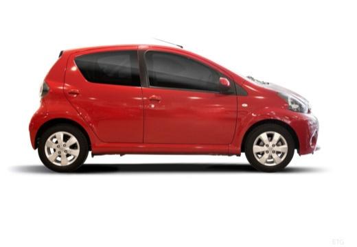 Toyota Aygo III hatchback czerwony jasny boczny prawy