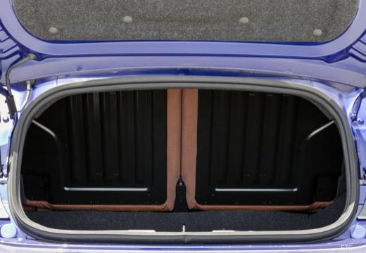 ABARTH 500 C kabriolet niebieski jasny przestrzeń załadunkowa