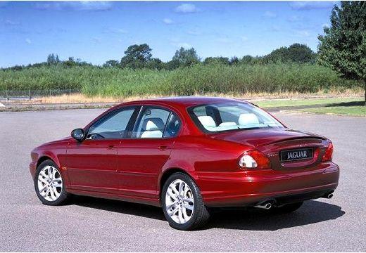 JAGUAR X-Type I sedan bordeaux (czerwony ciemny) tylny lewy