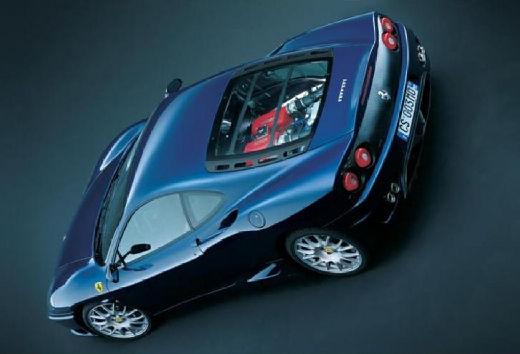 FERRARI 360 Spider kabriolet niebieski jasny tylny lewy