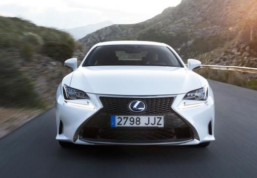 LEXUS RC I coupe biały przedni