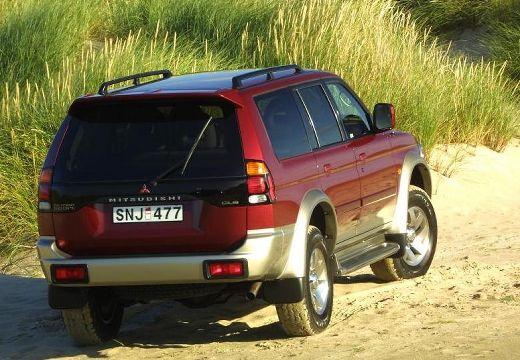MITSUBISHI Montero Sport kombi bordeaux (czerwony ciemny) tylny prawy